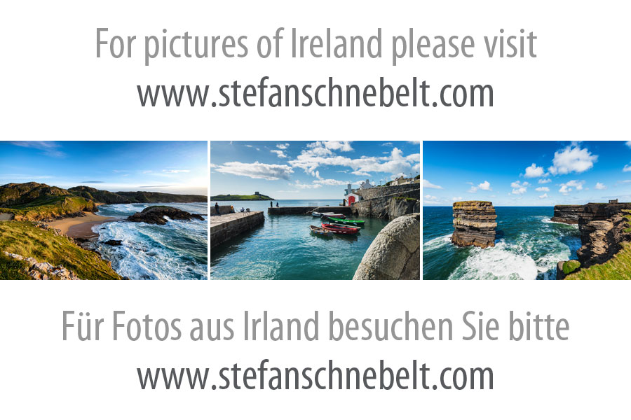 Kinbane Castle in County Antrim, Nordirland